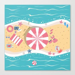 Happy Summer Vacation Canvas Print