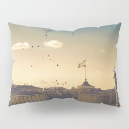 Ballons on Palace Square, St. Petersburg Pillow Sham