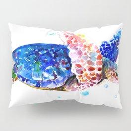 Sea Turtle, blue rainbow Pillow Sham