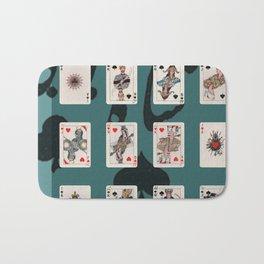 Persian Playing Cards Bath Mat