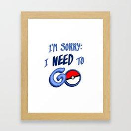So sorry Framed Art Print