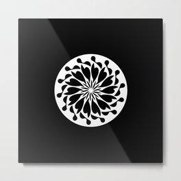Abstraction 033 - Minimal Geometric Mandala Metal Print