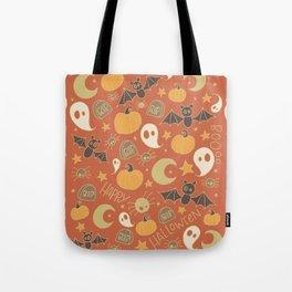 Halloween Doodles Tote Bag