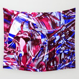 Fluid Painting 2 (Red Version) Wall Tapestry