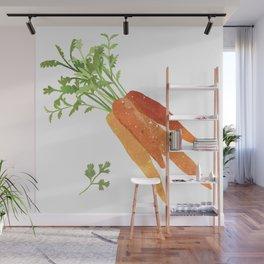 Carrot Illustration Wall Mural