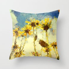Her Thoughts Were Happy and So Was Her Life Throw Pillow