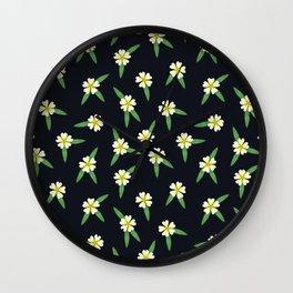 Wildflowers: Cinquefoil Pattern Wall Clock