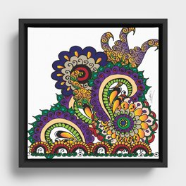 Hello 70s! Corally Framed Canvas