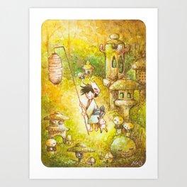 Niwashi no Babu-Kun Art Print