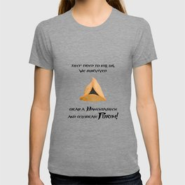 Purim Hamentaschen Spacial - They Tried to kill us, we survived T-shirt