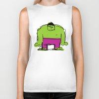 hulk Biker Tanks featuring Hulk by Remco Drijver
