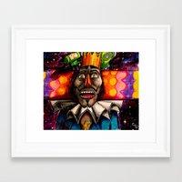 katamari Framed Art Prints featuring KATAMARI by Modern8bit