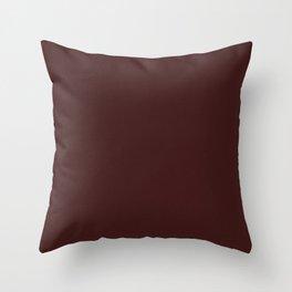 Dark Sienna Brown Light Pixel Dust Throw Pillow