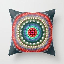 Soul and Heart Mandala Throw Pillow