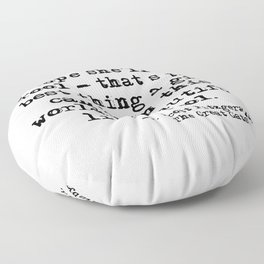 I hope she'll be a fool - F Scott Fitzgerald Floor Pillow
