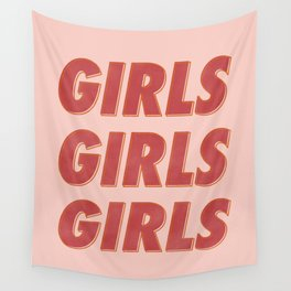 Girls Girls Girls II Wall Tapestry