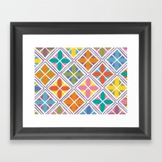 squares & diamonds Framed Art Print