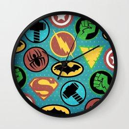 Superheroes Everywhere Wall Clock