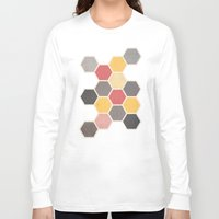 honeycomb Long Sleeve T-shirts featuring Honeycomb 3 by K&C Design
