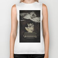 typewriter Biker Tanks featuring Typewriter by Tom Melsen