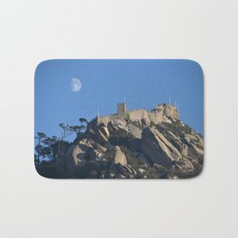 Magical Full Moon above the Castle of the Moors, Portugal Bath Mat
