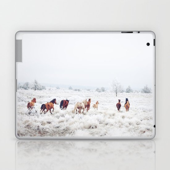 Winter Horses Laptop & iPad Skin