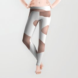 Rose gold cow print Leggings