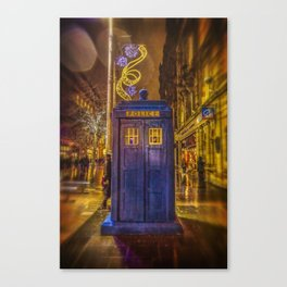 Old Fashioned Police Box in Glasgow Canvas Print