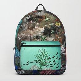 Mermaid on Rock Backpack