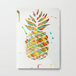 Golden Pineapple Metal Print