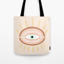 Retro evil eye Tote Bag
