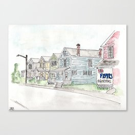 University of Dayton Student Neighborhood, Ghetto, UD Canvas Print