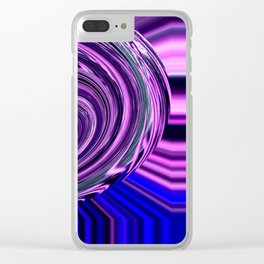 BLUE PURPLE ABSTRACTION Clear iPhone Case