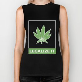 Legalize Weed Biker Tank