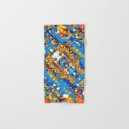 Orange And Blue Abstract Hand & Bath Towel