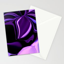 purple tropical flower abstract digital painting Stationery Cards