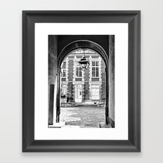 End of the Tunnel B&W Framed Art Print