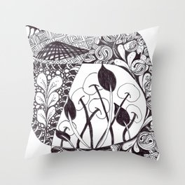 Zen Doodle Graphics zz36 Throw Pillow