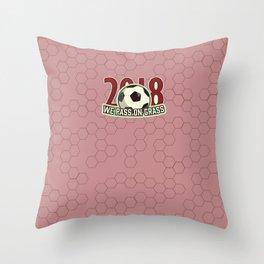 We Pass on Grass 2018 Throw Pillow