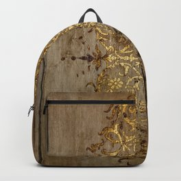 Vintage Gold Pattern Backpack