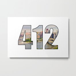 412 (Pittsburgh Area Code) Metal Print