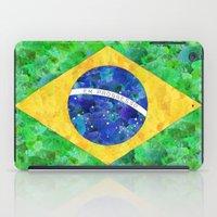 brasil iPad Cases featuring BRASIL em progresso by Bianca Green