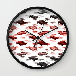 Muscle Cars Pattern Wall Clock