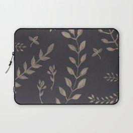 Light Sepia Leaves Pattern #1 #drawing #decor #art #society6 Laptop Sleeve