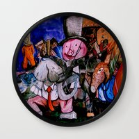 political Wall Clocks featuring Political Circus by eVol i