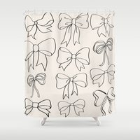 bows Shower Curtains featuring bows by courtneeeee