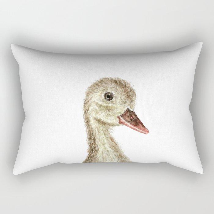 smiling little duck Rectangular Pillow