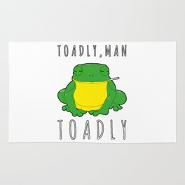 Toadly, Man. Toadly Funny Smoking Toad Frog Amphibian Medical Student Rug