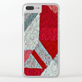 Pink, Red and Grey Clear iPhone Case