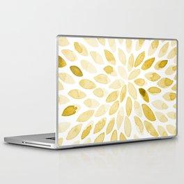 Watercolor brush strokes - yellow Laptop & iPad Skin